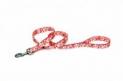 Поводок Coastal для собак (цвет: красный с белыми цветами; нейлоновый; размер: 120*1...